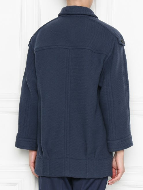 Пальто из шерсти с накладными карманами - МодельВерхНиз1