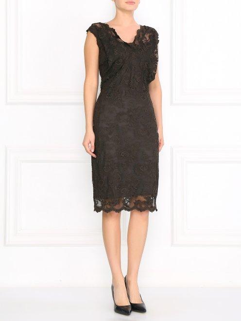 Кружевное платье-футляр - Общий вид