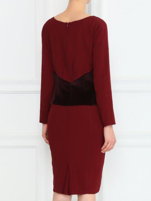 Платье-футляр с бархатной вставкой - Модель Верх-Низ1