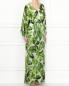 Платье-макси из смешанного шелка с узором Alice+Olivia  –  МодельВерхНиз