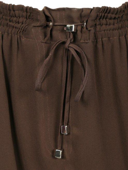 Шелковая юбка-миди на резинке - Деталь